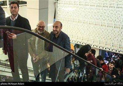 امیر آقایی بازیگر در هفتمین روز سی و هشتمین جشنواره فیلم فجر در پردیس چارسو