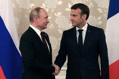 پوتین برای دیدار مکرون به فرانسه می رود