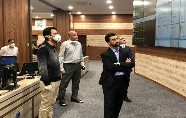بازدید وزیر ارتباطات از مرکز عملیات شبکه مخابرات ایران