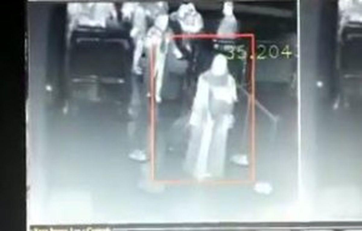 غربالگری حرارتی در فرودگاه امام خمینی(ره) + فیلم
