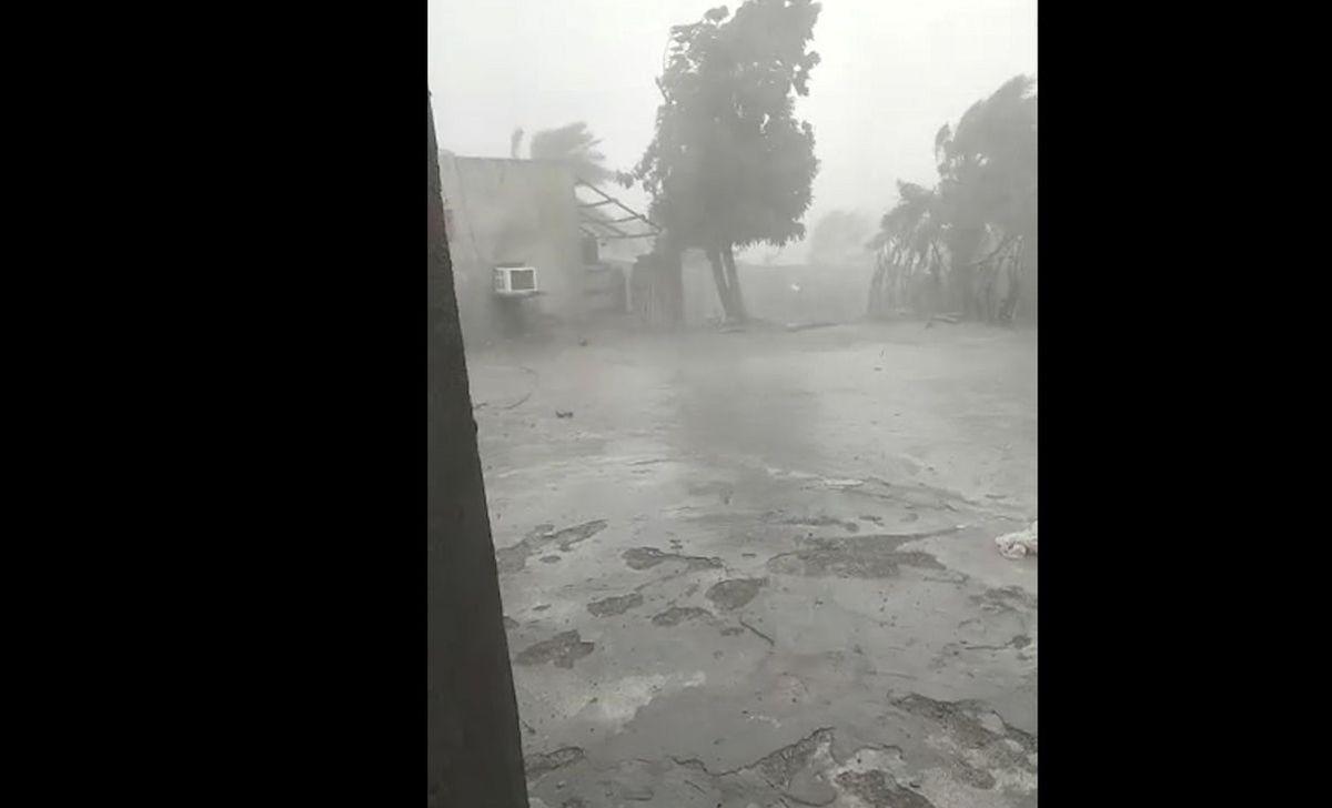 فیلم عجیب از طوفان مرگبار در جاسک + فیلم