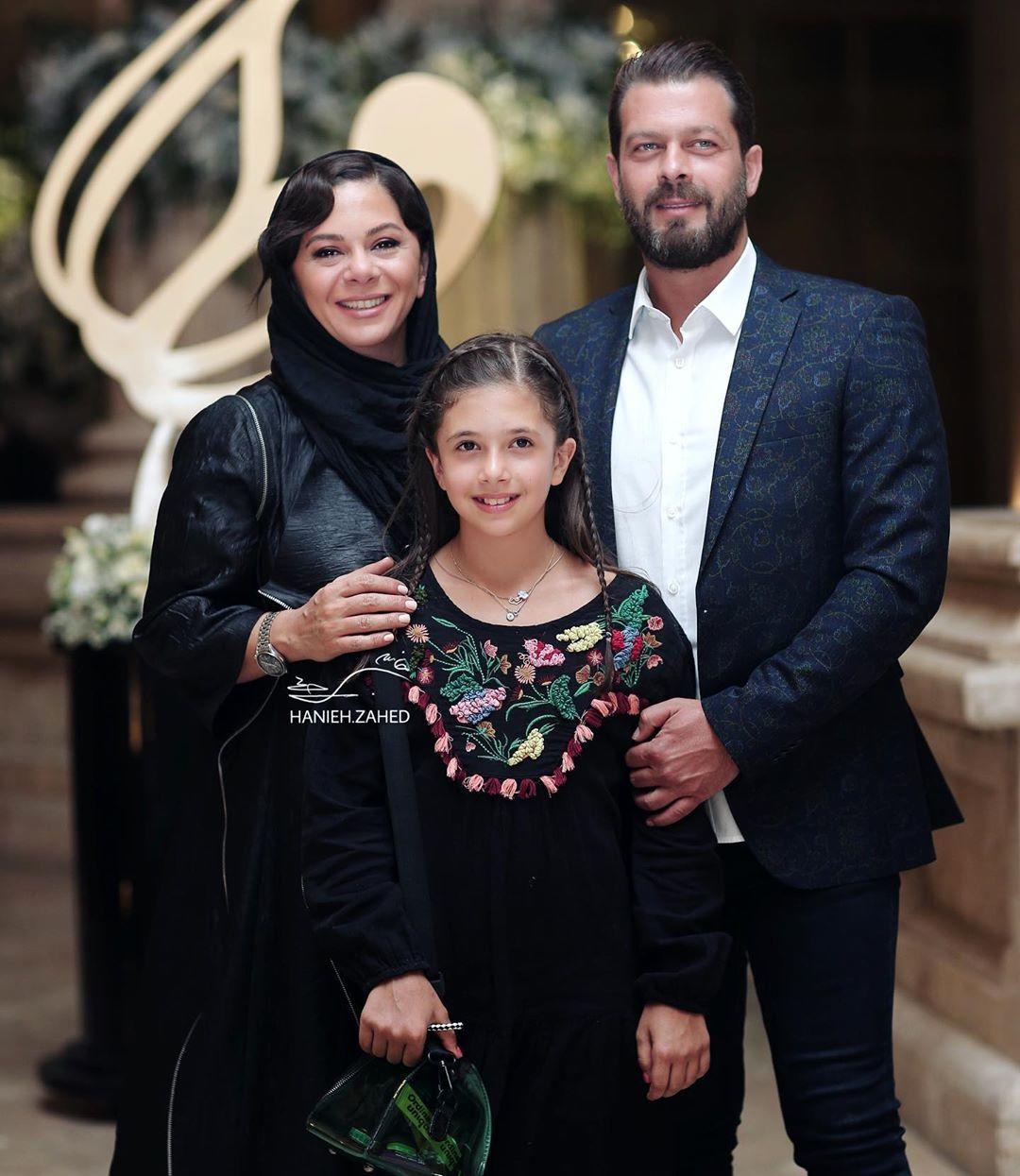 پژمان بازغی همراه همسرش مستانه مهاجر و دخترش نفس / عکس - موسیقی ایرانیان