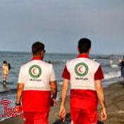 امدادرسانی به مسافران تابستانی در ساحل خزر