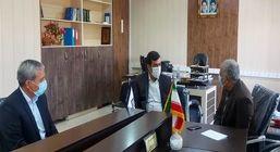بازدید فرماندار زرندیه و مدیرکل تامین اجتماعی مرکزی از شعبه زرندیه