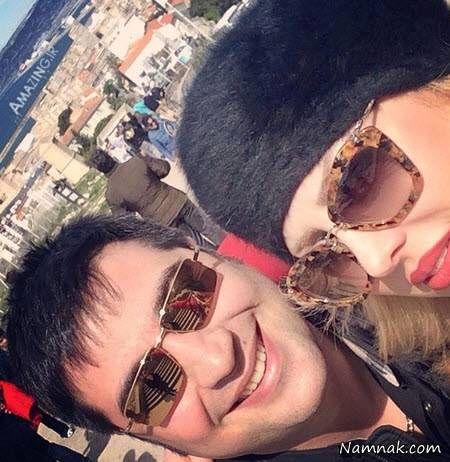 نیوشا ضیغمی و همسرش آرش پولاد خان