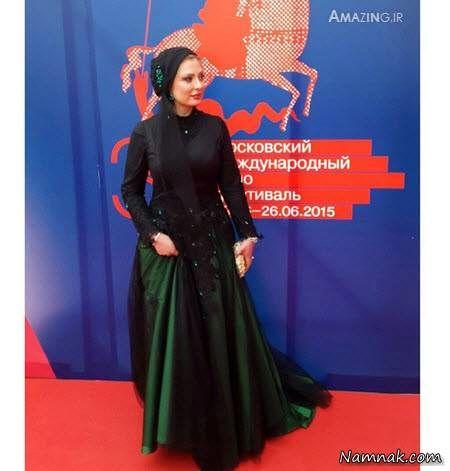لباس نیوشا ضیغمی در مسکو