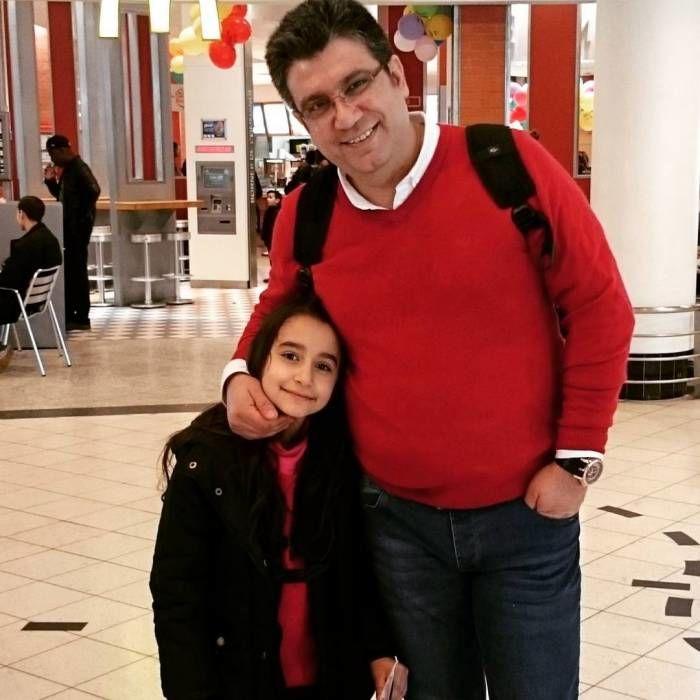 رضا رشیدپور و دخترش