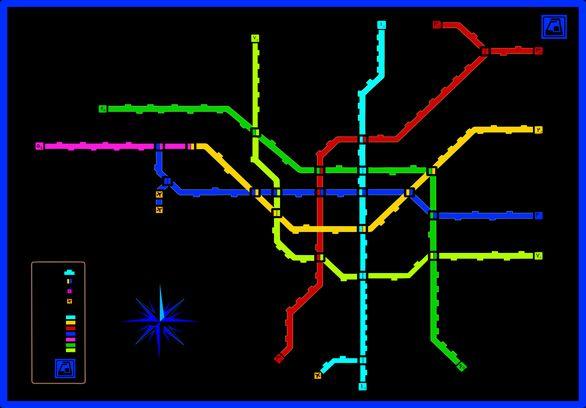 نقشه جدید و کامل مترو تهران