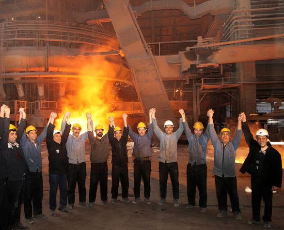 پاییز طلایی ذوب آهن اصفهان با ثبت رکورد تولید ماهانه چدن