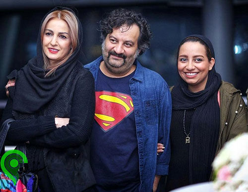 شقایق دهقان در کنار همسرش و دخترش
