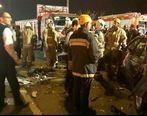 تصادف شدید در بزرگراه شهید یاسینی تهران + تصاویر