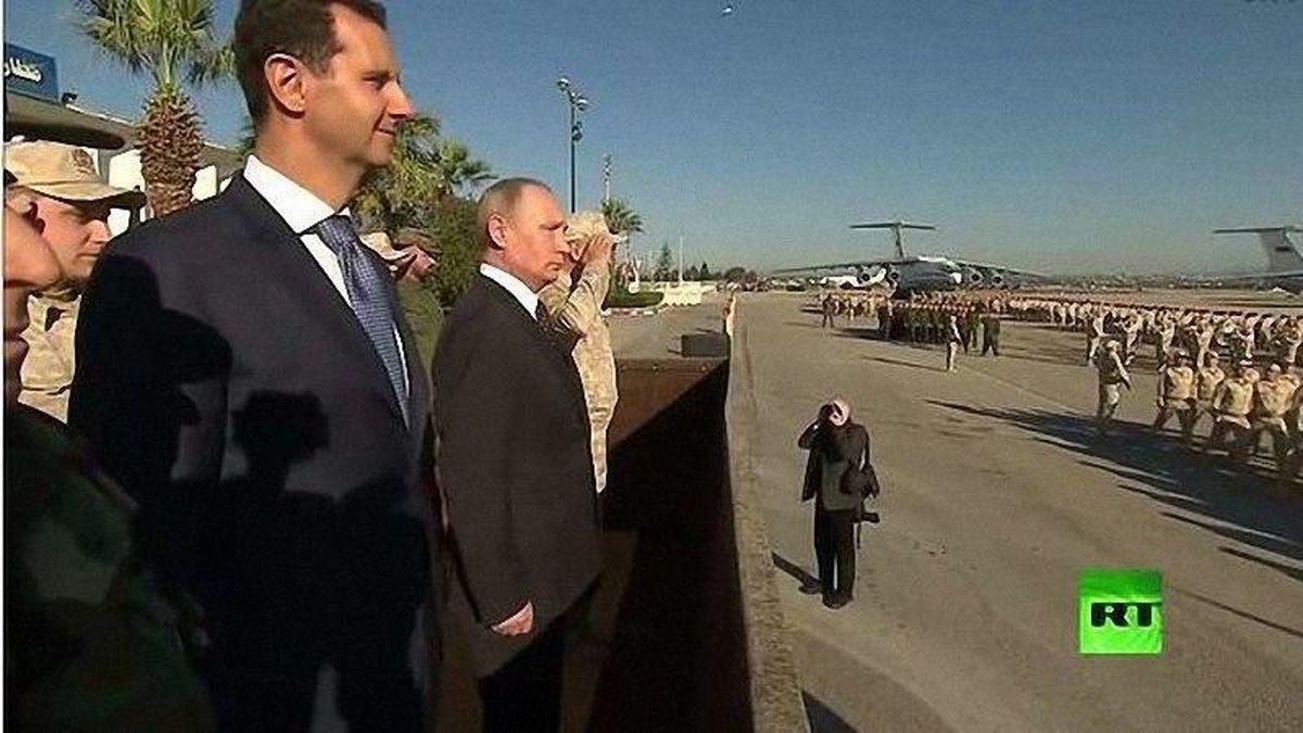 ورود غیرمنتظره پوتین به دمشق