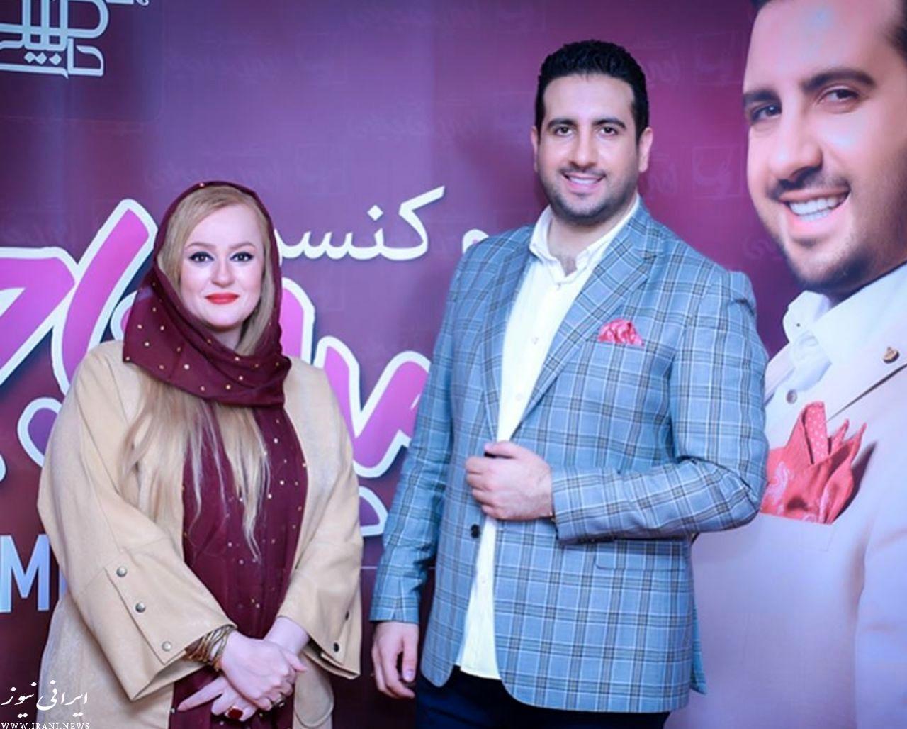 تصویری از نعیمه نظام دوست در کنسرت امید حاجیلی