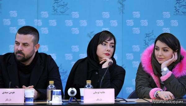 هانیه توسلی در کنار هومن سیدی