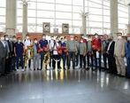 ملی پوشان والیبال ایران با استقبال گرم  معاونان و مدیران بانک گردشگری روبه رو شدند