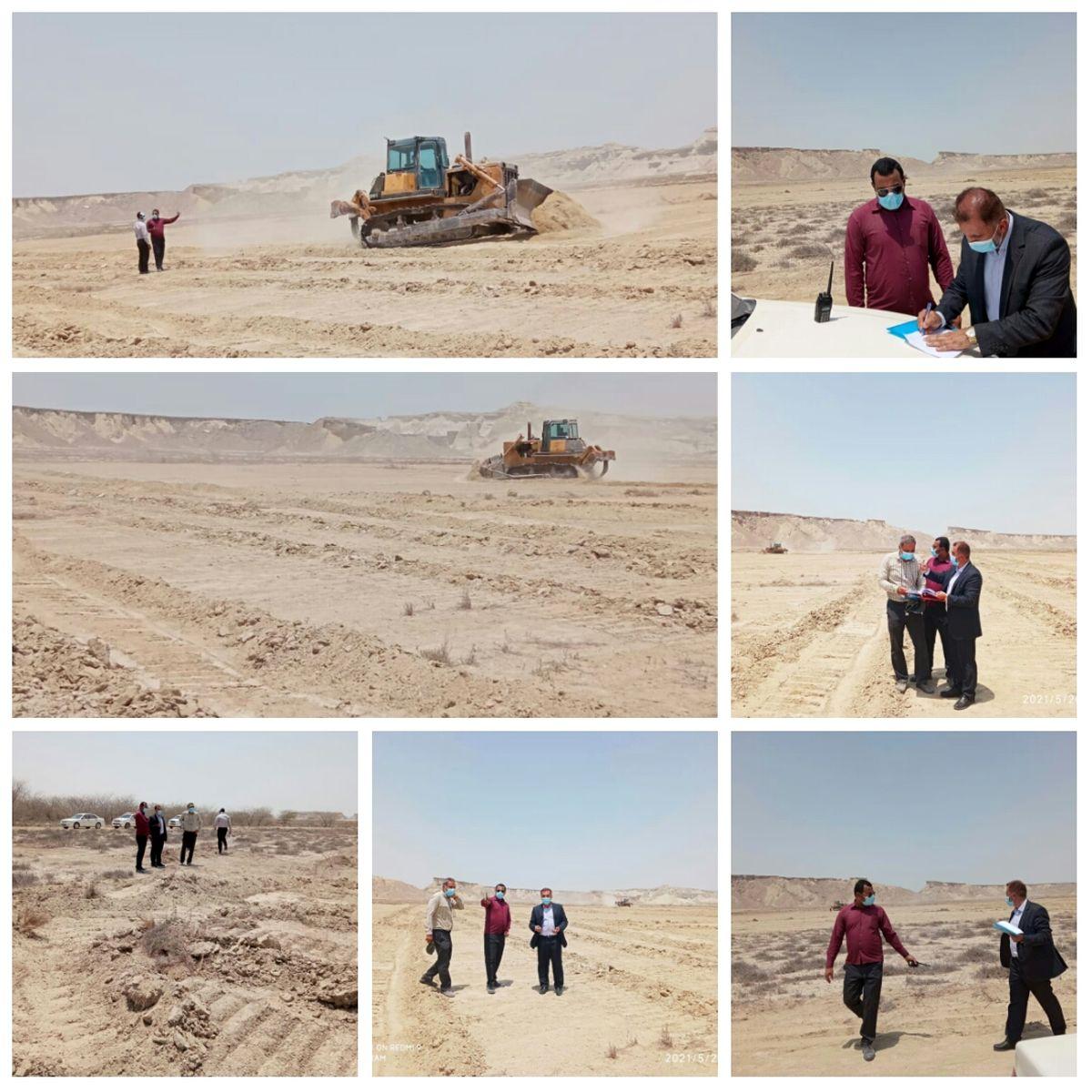 رفع تصرف اراضی خالصه دولتی به در روستای رمچاه قشم