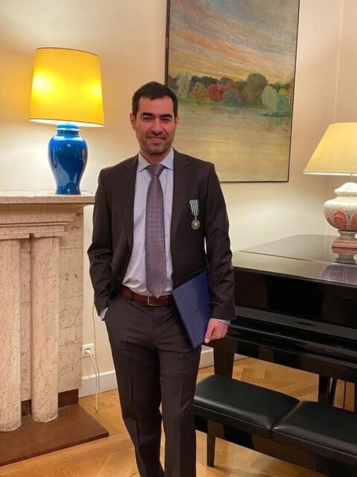 شهاب حسینی نشان شوالیه را دریافت کرد