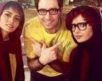 گلشیفته فراهانی ، ترانه علیدوستی و پگاه اهنگرانی در بغل اقای کارگردان + عکس لورفته
