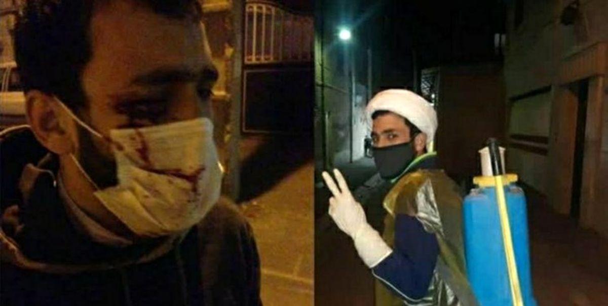 طلبه جهادگری که دیشب مورد حمله جوان مست قرار گرفت، زیر تیغ جراحی رفت