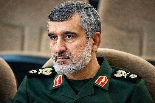 سردار حاجیزاده: امریکا در مقابل حمله موشکی ما هیچ غلطی نتوانست بکند