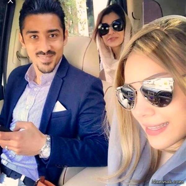 رضا قوچان نژاد و همسرش و ساره بیات