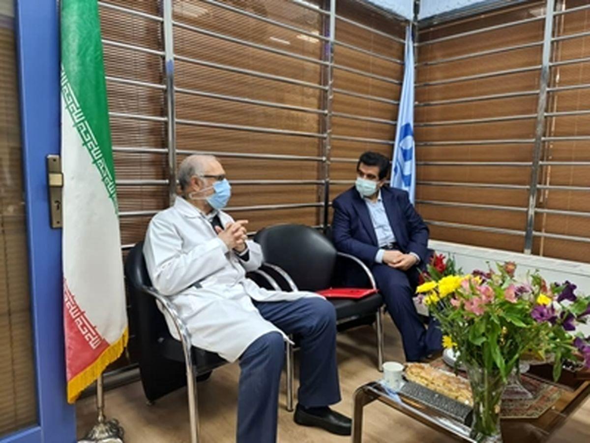 بازدید مدیر عامل بانک رفاه کارگران از بیمارستان قلب شهید رجایی تهران