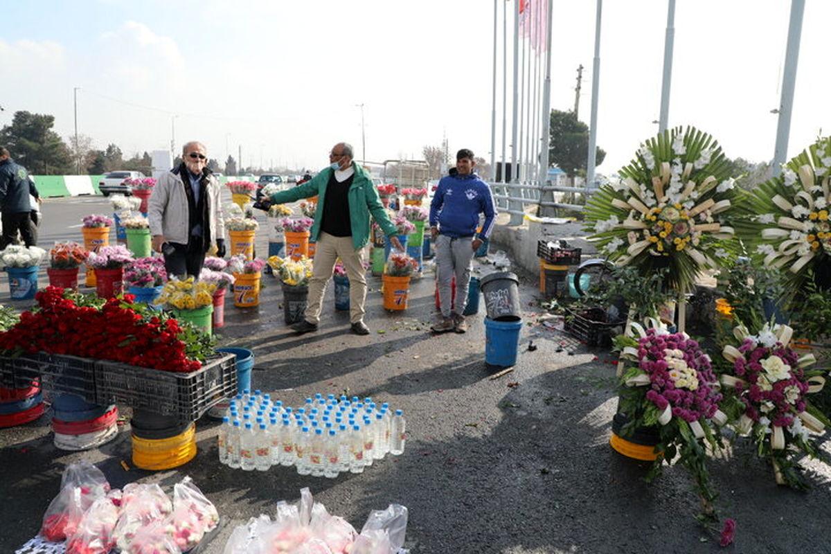 ساماندهی گلفروشان حاشیه بزرگراه شهید هاشمی