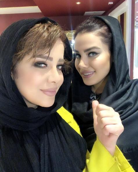 تبلیغ شراره رخام بازیگر 47 ساله برای آرایشگرش! عکس