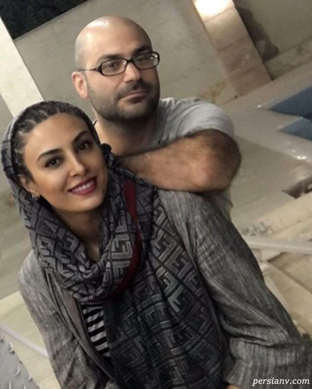 عکس متفاوت حدیث تهرانی در کنار همسرش + عکس