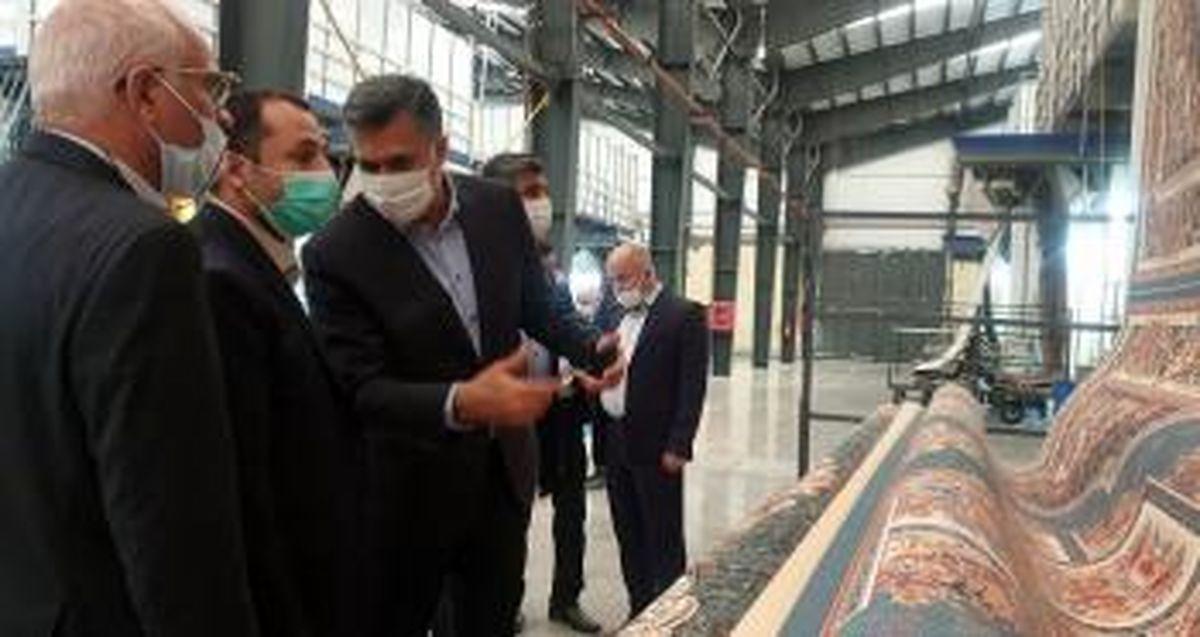بازدید مدیرعامل بانک توسعه صادرات ایران از کارخانه اطلس ریس