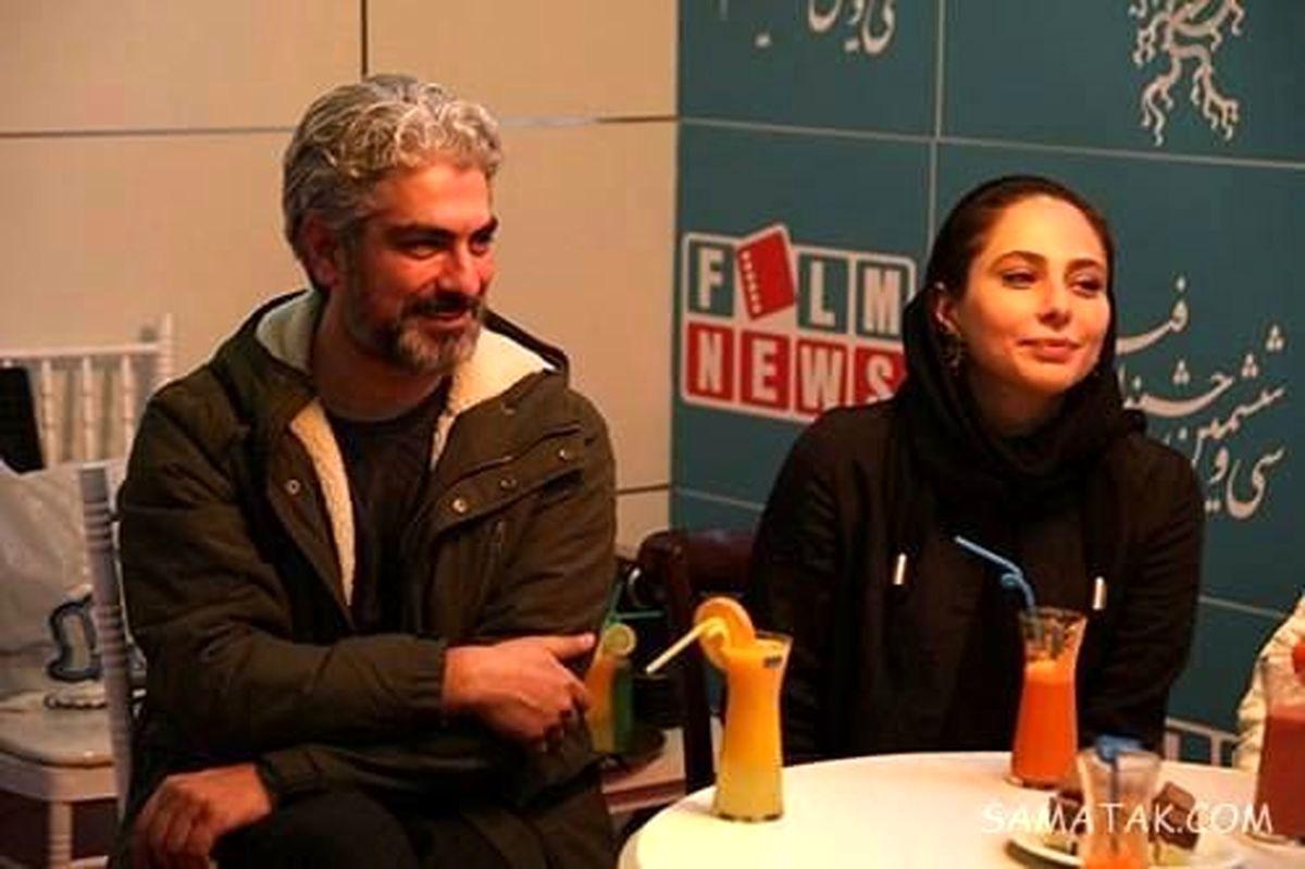 عاشقانه های مهدی پاکدل و همسر دومش زیر باران + عکس عاشقانه