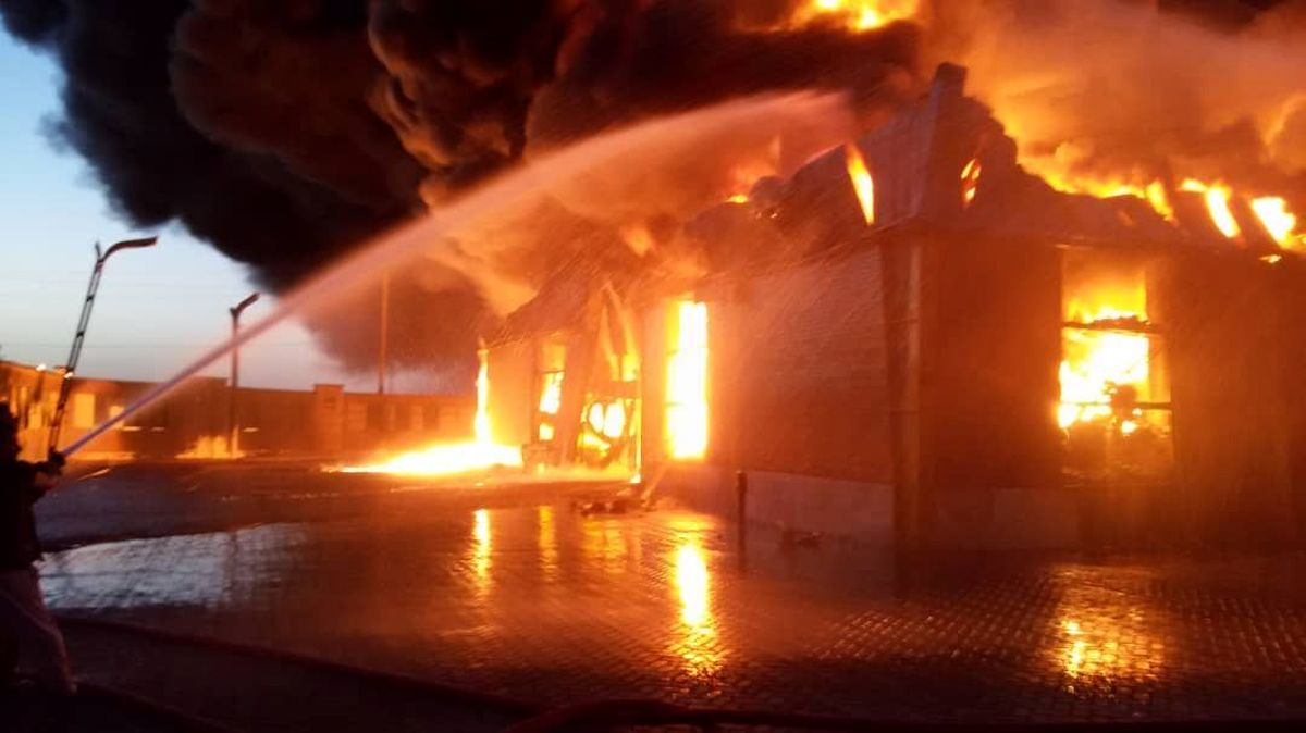 آتشسوزی در کارخانه شهرک صنعتی سفلچگان