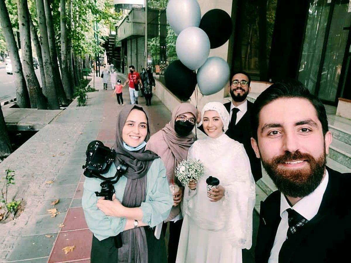 خوشگذرانی عروس و داماد تهرانی در خیابان ولیعصر + عکس