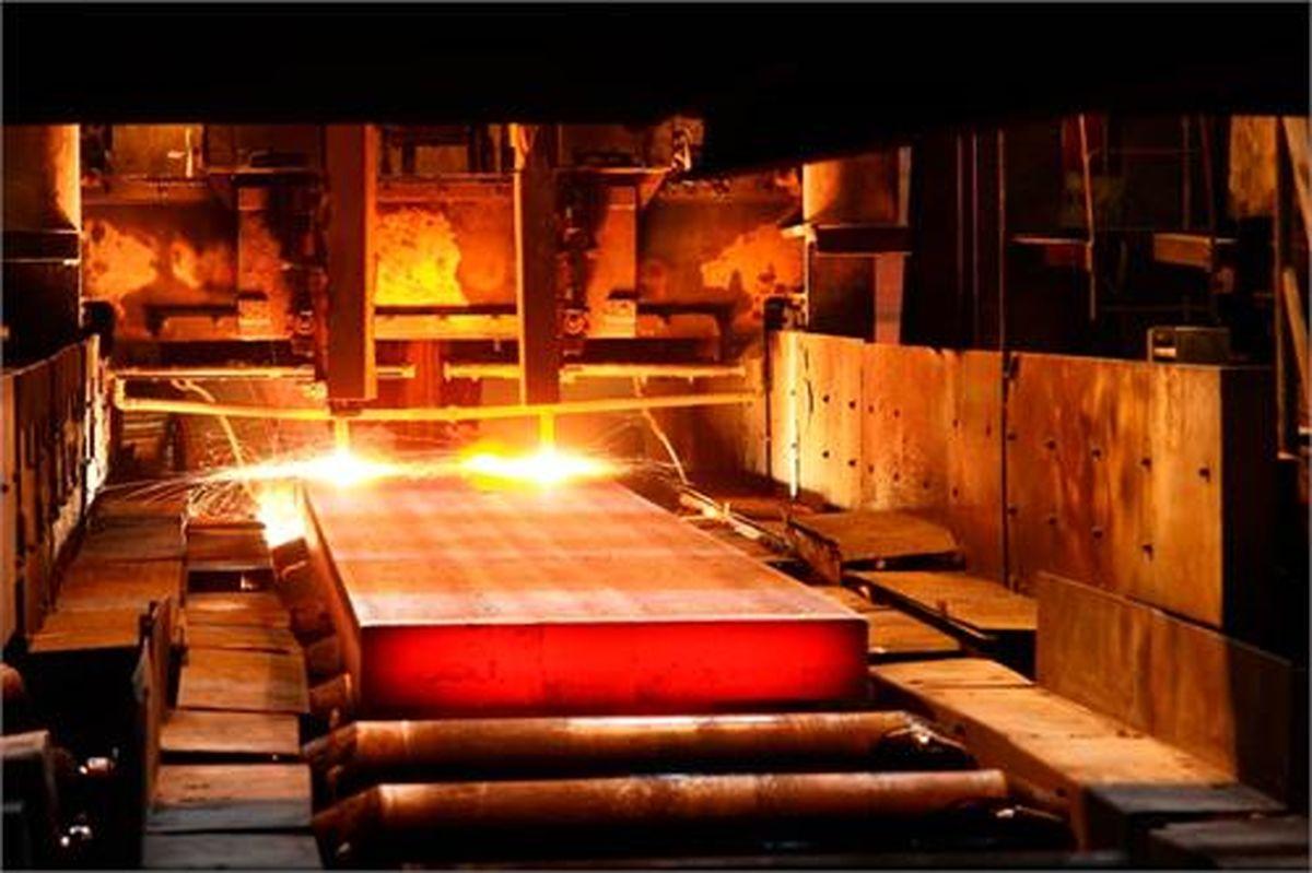 عبور از تولید روزانه ۱۳۰۰۰ هزار تُن شمش فولاد