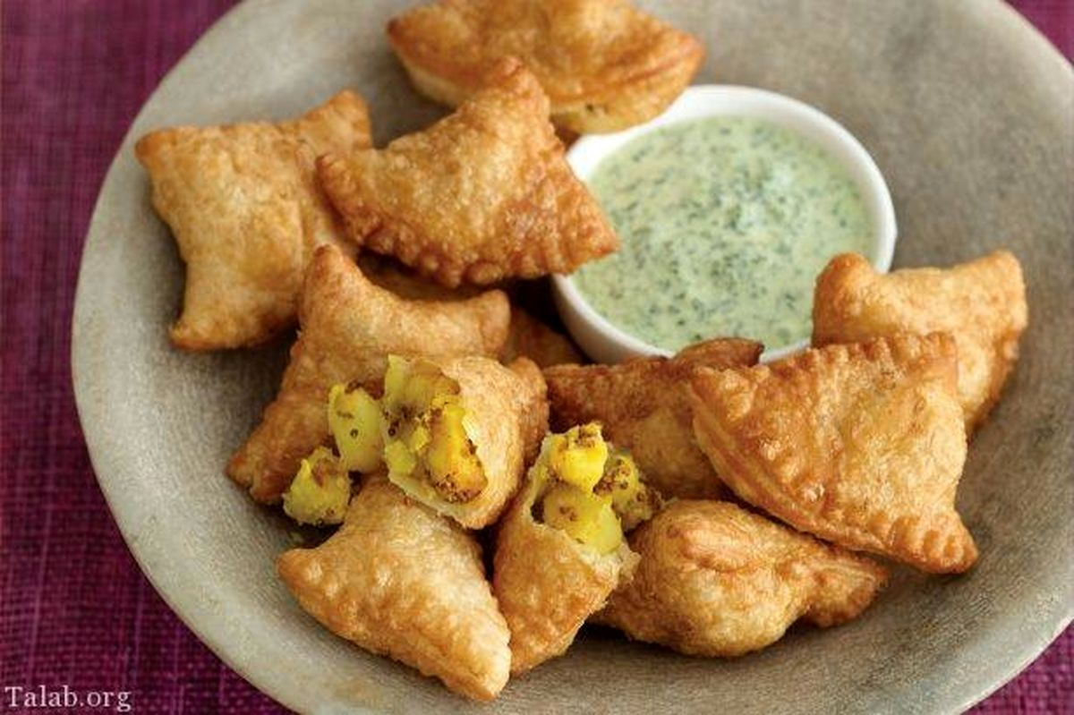 آموزش و طرز تهیه پخت سمبوسه هندی بسیار لذیذ وخوشمزه و تند