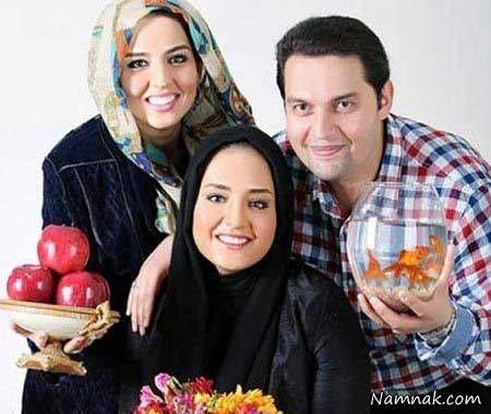 نرگس محمدی و خواهر و برادرش