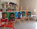 کافه ها میزبان جام جهانى از قاب کودکان نقاش (عکس)