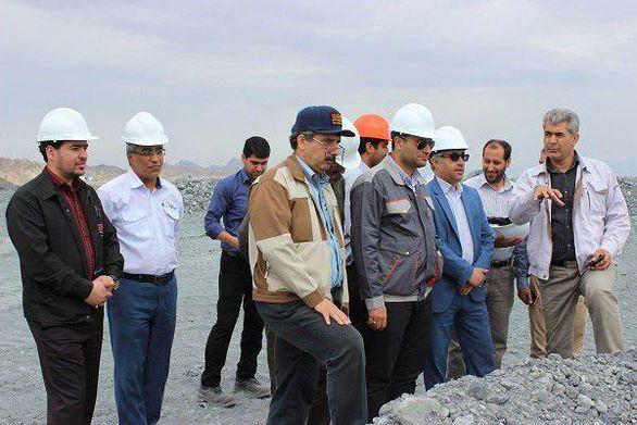 بازدید معاونت بهره برداری و اکتشافات شرکت تهیه و تولید مواد معدنی ایران از مجتمع فلات مرکزی بافق