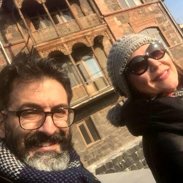 لاله اسکندری و همسرش