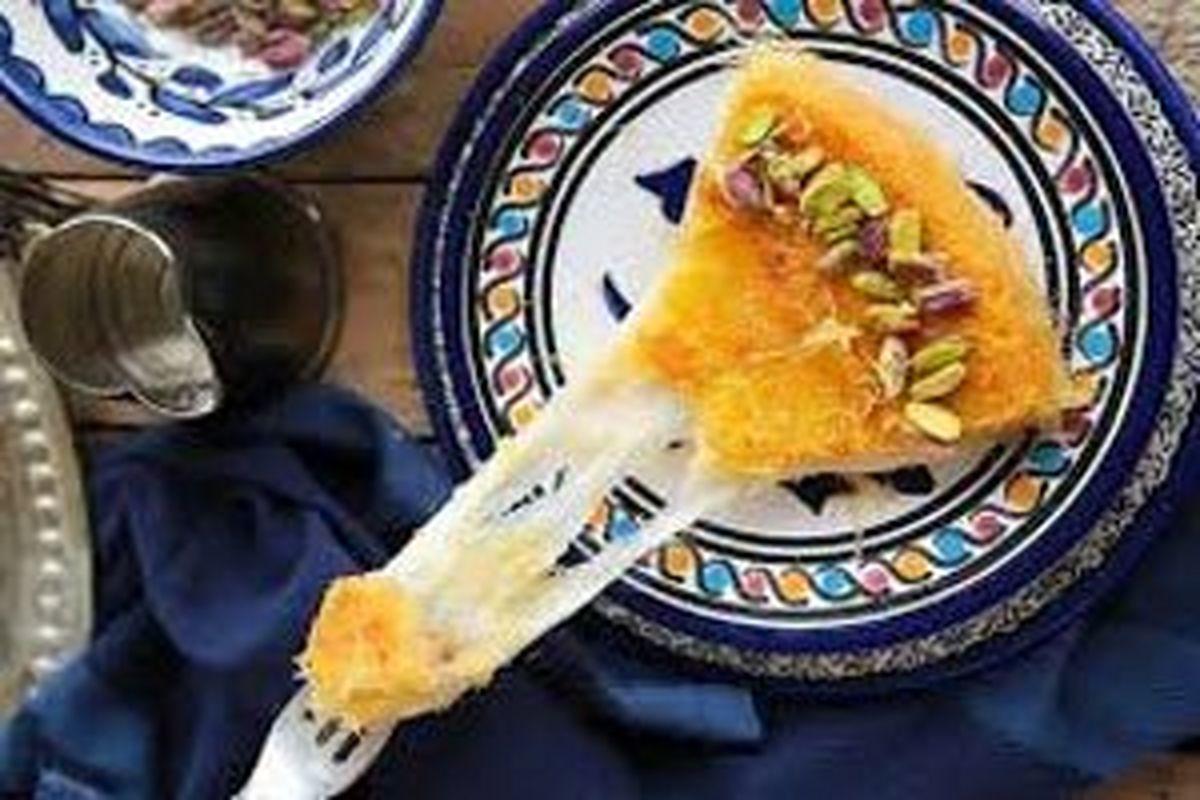 آمورش و طرز تهیه دسر مجلسی کونوفه پنیری ترکیه